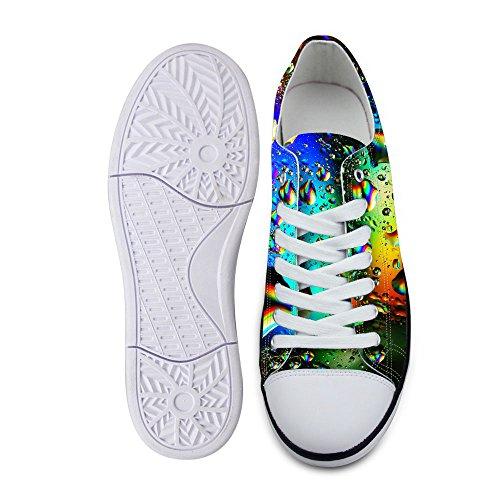 Per Te Disegni Elegante Banda Unisex Stampa A Onde Basse Scarpe Basse Basse Sneaker Moda Leggera Allacciata Verde B