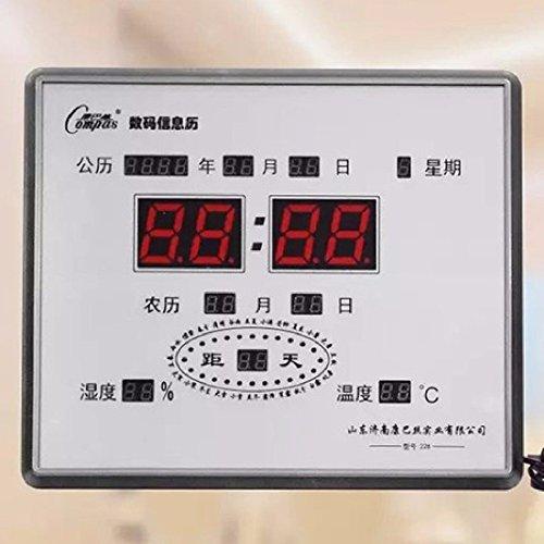 24 Schedule solar calendar digital, alarm clock, the lounge of the digital clock, calendar electronic calendar Mute LED,B by fwerq