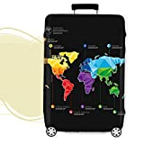 World Map Print Luggage Protector Cover Elastic Suitcase Cover Spandex Travel Luggage Cover