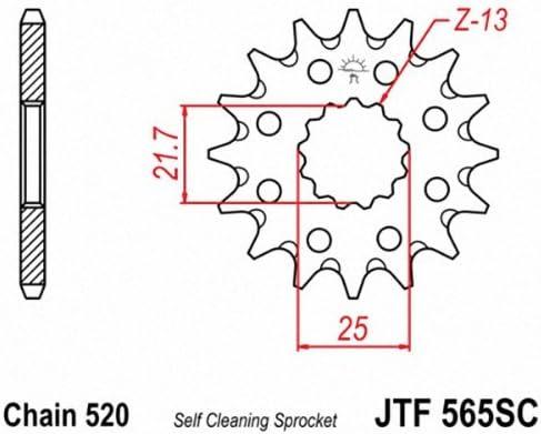 JT Sprockets JTF565.13SC 13T Steel Front Sprocket