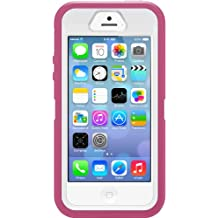 OtterBox DEFENDER SERIES Case for iPhone 5/5s/SE - Retail Packaging - PAPAYA (WHITE/PEONY PINK) (Discontinued by Manufacturer)