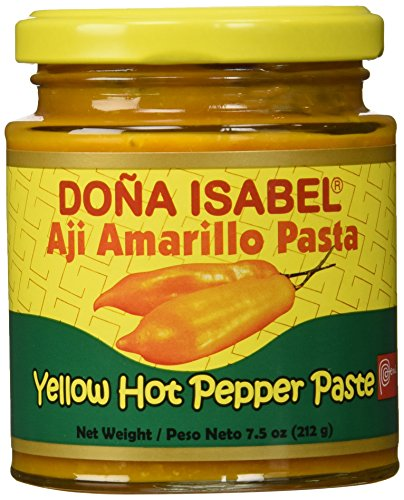 Doña Isabel Aji Amarillo Molido (Yellow Hot Pepper Paste) 7.5oz Single Bottle - Product of - Aji Amarillo Pepper