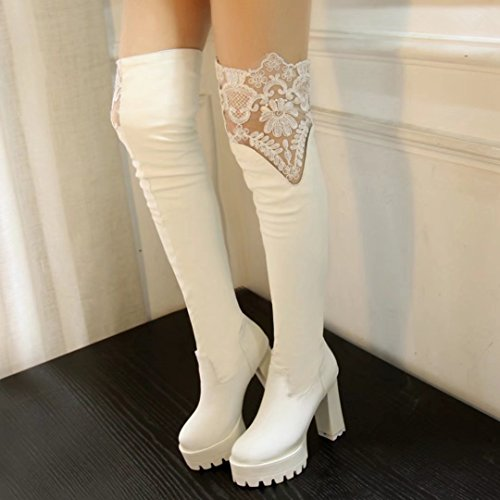 AIYOUMEI Women's AIYOUMEI Women's Boot AIYOUMEI Classic Boot Classic White White Women's HngfW1nx