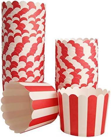 50 Pack Muffin Cupcake Muffins Stripes
