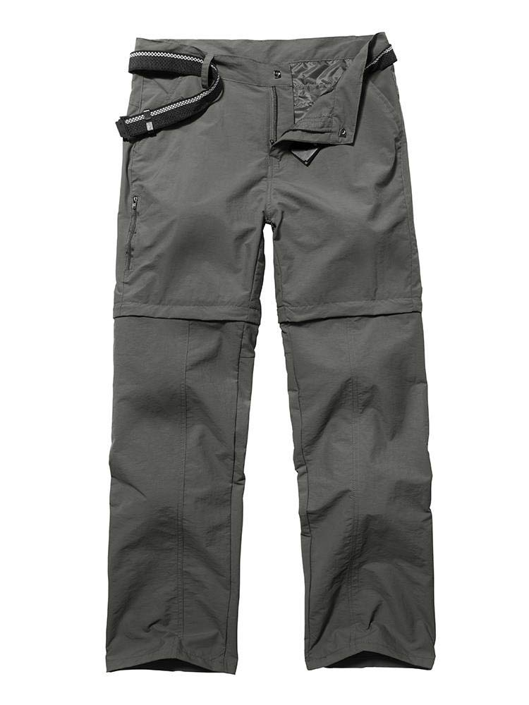 Women's Outdoor Convertible Water-Resistant Quick Drying Lightweight Straight Leg Cargo Pants,2057,Grey US 28... by Toomett