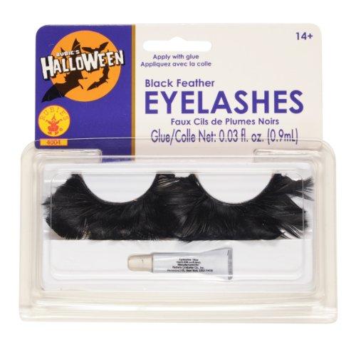 Rubie's Feather Eyelash, Black, One Size]()