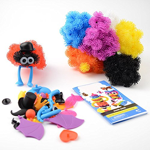 400pcs/Set Assemble 3D Puzzle DIY Puff Ball Squeezed Ball Creative Educational Toys