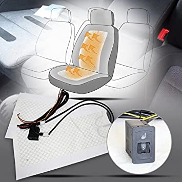2 Sitz Auto Carbon Universal Sitzheizung Heizmatte Nachrüstsatz KFZ PKW 5 Stufen