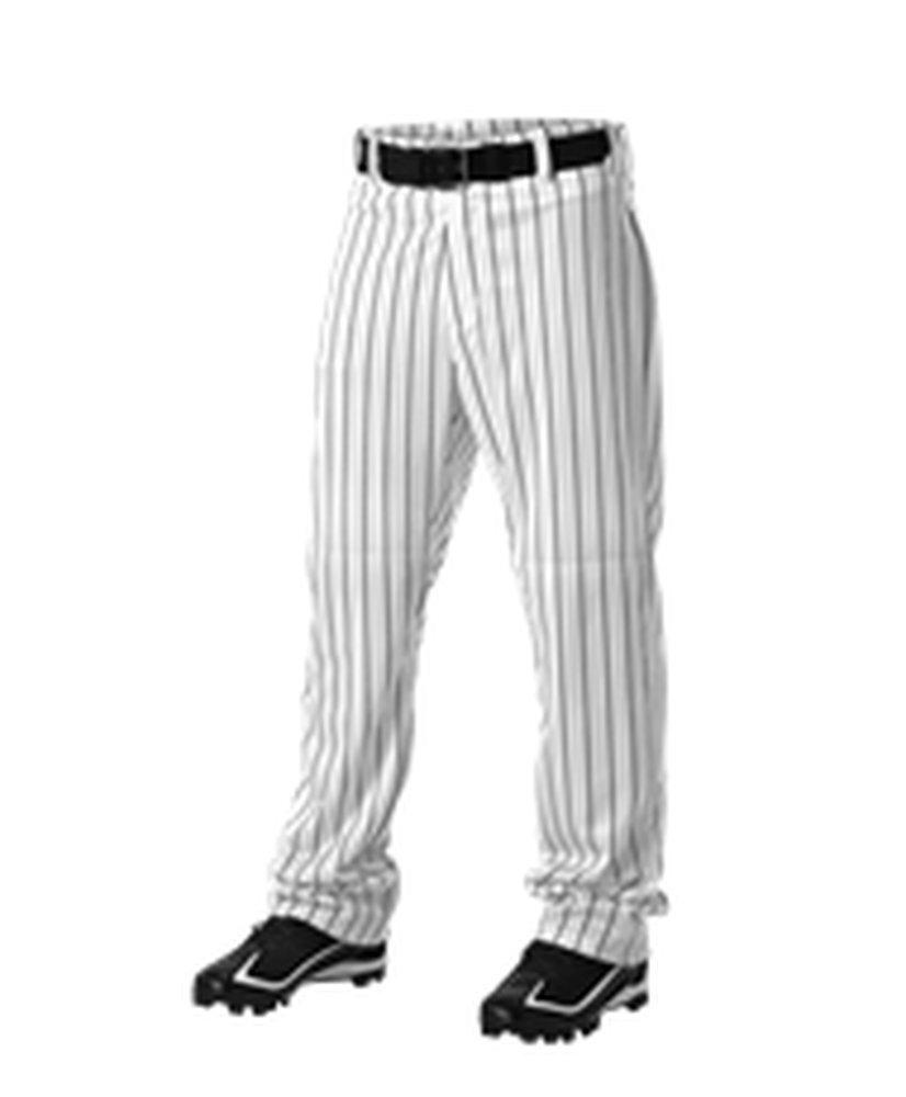 Alleson Athletic PANTS ボーイズ B071XC3SVF Large|ホワイト、ブラック ホワイト、ブラック Large