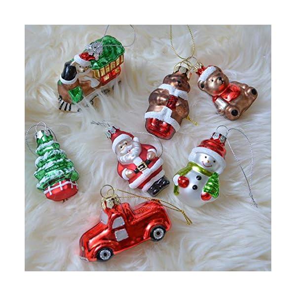 Valery Madelyn Palle di Natale Vetro Addobbi Natalizi Set, 9 Pezzi 5-7cm Classic Collection Red Green And White Palline di Natale Decoration for Addobbi Natalizi per Albero 7 spesavip