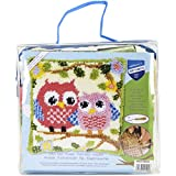 """Vervaco Owls on a Branch Cushion Latch Hook Kit, 16"""" by 16"""""""
