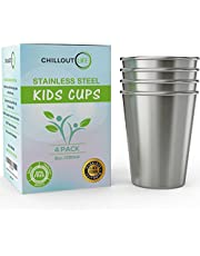Stainless Steel Cups for Kids 8 oz Set of 4