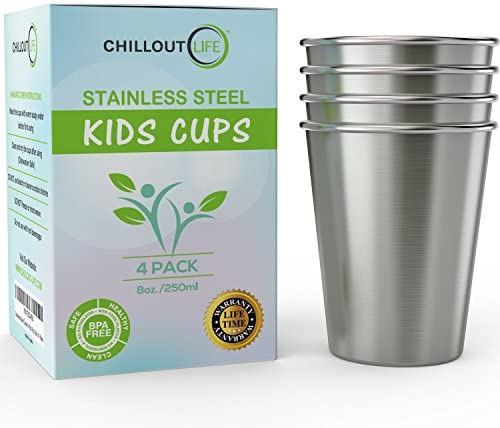 Stainless Steel Cups Kids Toddlers product image