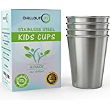 Stainless Steel Cups for Kids and Toddlers 8 oz - Stainless...