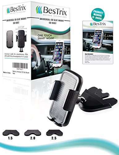 Bestrix Universal CD Slot Smartphone Car Mount Holder For IPhone X 8 7 6 6S Plus 5S 5C 5 Samsung Galaxy S5 S6 S7 S8 EdgePlus Note 458 LG G4 G5 G6 V30 All Smartphones Up To 6