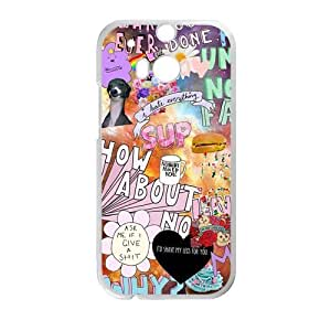 Canting_Good Quotes logos Stickers Tumblr Custom Case Cover Shell for HTC One M8 (Laser Technology)