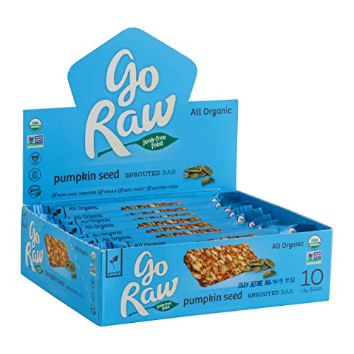 - Go Raw Organic Sprouted Superfood Bars, Pumpkin Seed (case of 10 small bars)