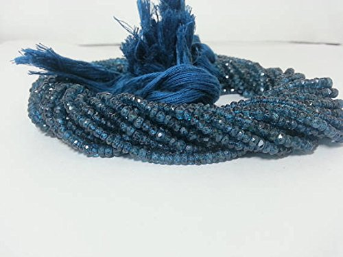 London Blue Topaz Faceted Rondelle Beads Strand, Topaz Beads, Blue Topaz Beads, Blue Topaz Rondelle, London Blue Beads, London Topaz Blue Topaz Bead Necklace