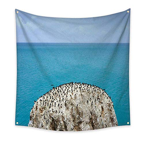 ve Tapestry Bird Island in Qinghai Province of China 70W x 70L Inch ()