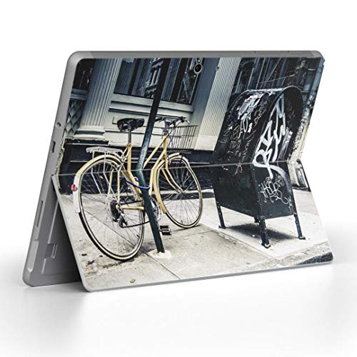 igsticker Decal Cover for Microsoft Surface Go/Go 2 Ultra Thin Protective Body Sticker Skins 010828 Bicycle Photo Yellow