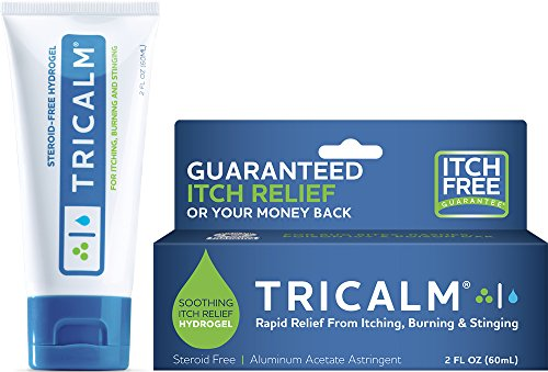 (TriCalm Soothing Steroid-Free Anti-Itch Hydrogel for Bug Bites, Eczema, and More, Contains No Hydrocortisone, 2 Fluid Ounce)