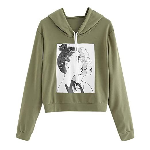 d3c18e146d8 Image Unavailable. Image not available for. Color  DaySeventh Fashion Women  Long Sleeve Casual Figure Print Drawstring Hoodie Sweatshirt