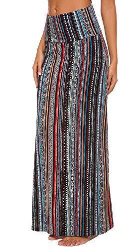 Fold-Over Maxi Skirt