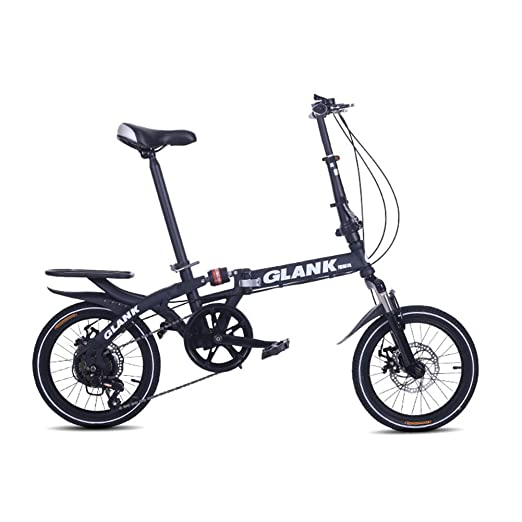 LETFF Bicicleta Plegable para Adultos Bicicleta de Amortiguador de Choque de 16 Pulgadas Mini Estudiante(Orange): Amazon.es: Deportes y aire libre