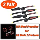 Choosebuy 2/4PCsLED Flash Propeller Blades, Cool Programmable Low Noise Night Fly Propeller Blade Drone Spare Part Accessory for DJI Mavic 2 Pro/Zoom (4PCS)
