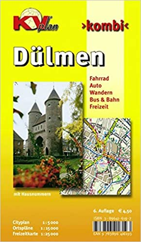Karte Mit Hausnummern.Dülmen 1 15000 Stadtplan Mit Freizeitkarte 1 25000 Incl Radrouten