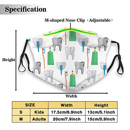 Dentist Toothpaste Medical Tools Health Care Medicine Instrument Face Mask With Washable Dust Mouth Masks With Replaceable 5 Layer Active Carbon Filters