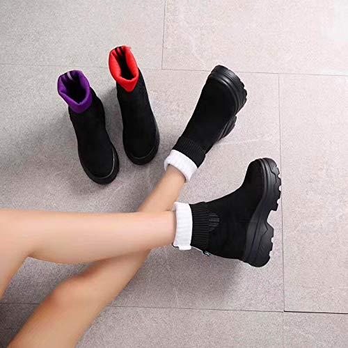 HYDONGX Stiefel Mit Hohen Hohen Hohen Absätzen Herbsthose für Damenschuhe, um die Schuhe der Damen zu verstärken 0ab8e6