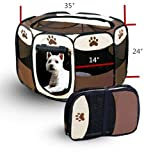 Cheap 8 Sides 35 Inch Pet Tent Outdoor Portable Cat Dog Playpen Foldable Pop Up Camping Tent for Puppy Large