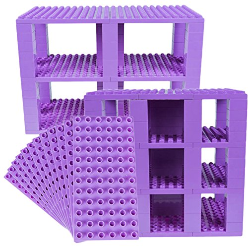 Strictly Briks Classic Big Briks 96 Piece Set 100% Compatible with All Major Brands   Tower Construction   Large Pegs for Toddlers   Ages 3+   Building Bricks & Baseplates   Lavender