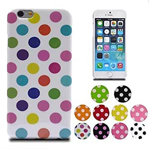 TLB Colorful Polka Dot Soft Gel TPU Case for iPhone 6