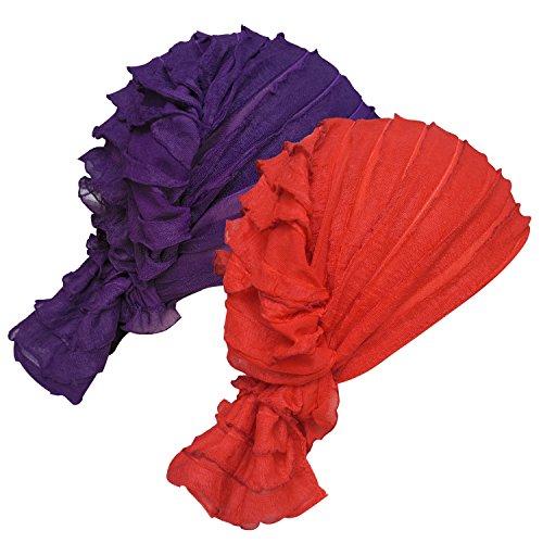 Womens Ruffle Beanie Turban Headwear product image
