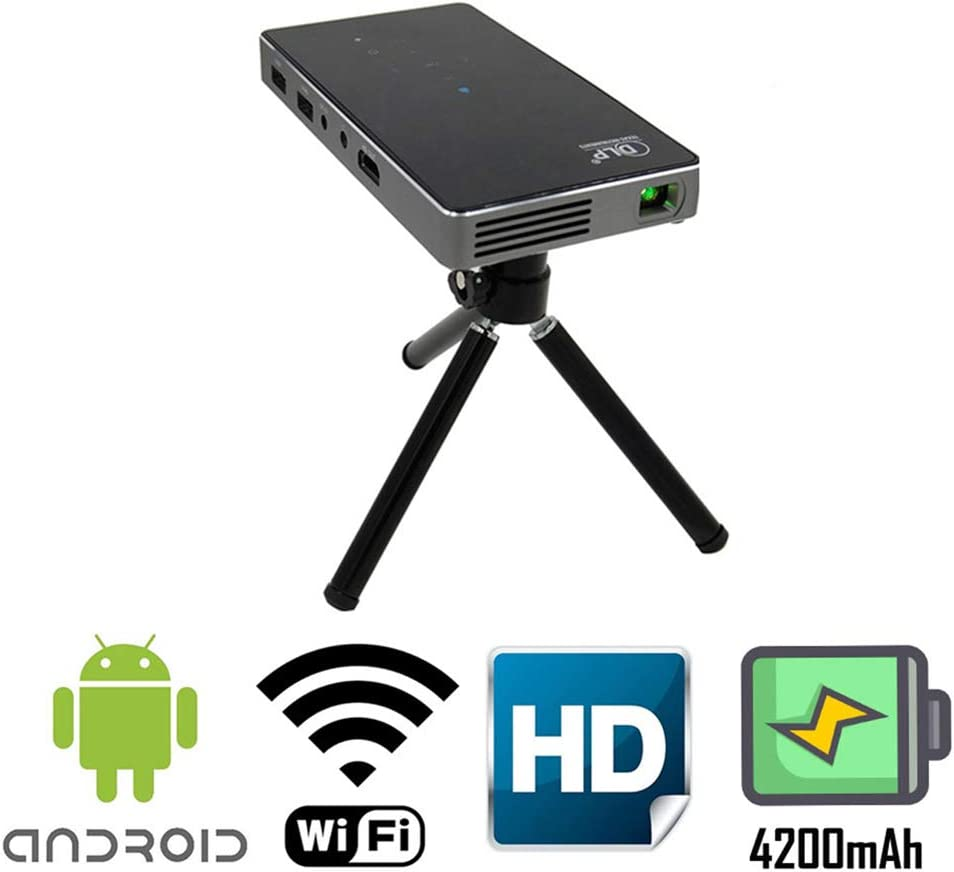 SEXTT Proyector para Android, DLP Mini proyector Portable con HDMI ...