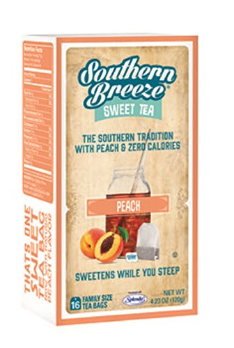 Southern Breeze, Sweet Tea Bags, 16 Count, 4.23oz Box (Pack of 3) (Choose Flavors Below) (Peach Sweet Tea)