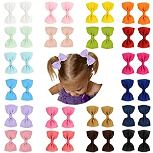 Prohouse Baby Girls Ribbon Hair Bow Clips Barrettes For Girl Teens Kids Babies Toddlers