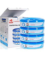 Diaper Pail Refills Compatible with Genie and Munchkin Pails ,4-6 Months Supply,1120 Count (Pack of 4)
