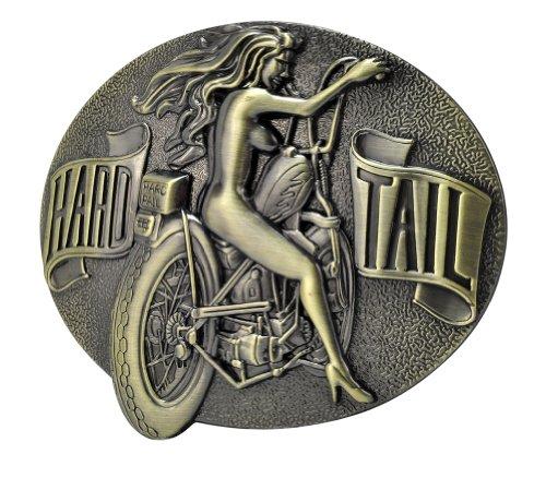 [Buckle Rage Adult Mens Hard Tail Biker Chick Sexy Ladies Belt Buckle Bronze] (Biker Buckle)