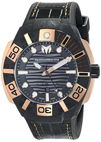 (TechnoMarine Men's 514002 Black Reef Analog Display Swiss Quartz Black Watch)