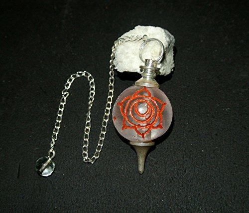 Sacral Shape (Sacral Chakra Crystal Quartz Round Shape Dowsing Pendulum)