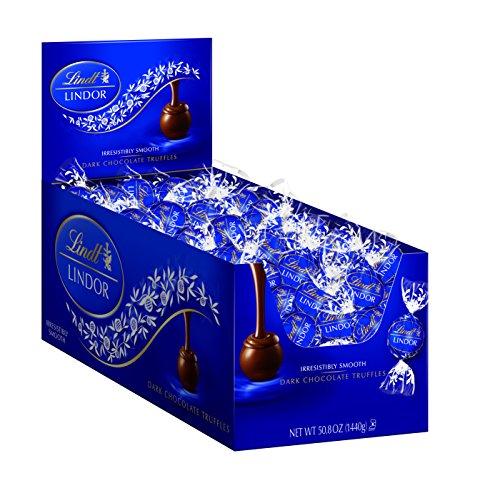 Lindt LINDOR Dark Chocolate Truffles, 120 Count