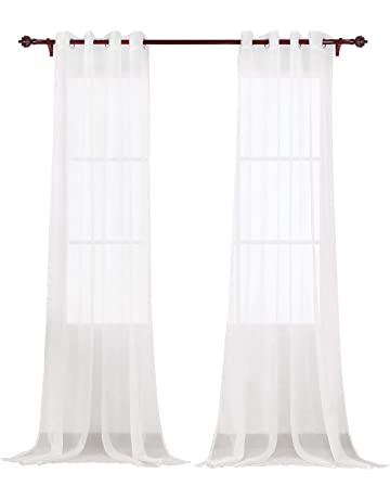 Rideaux, Stores Embrase Coton Satin Originale Anis Long 75 Cm Rideaux
