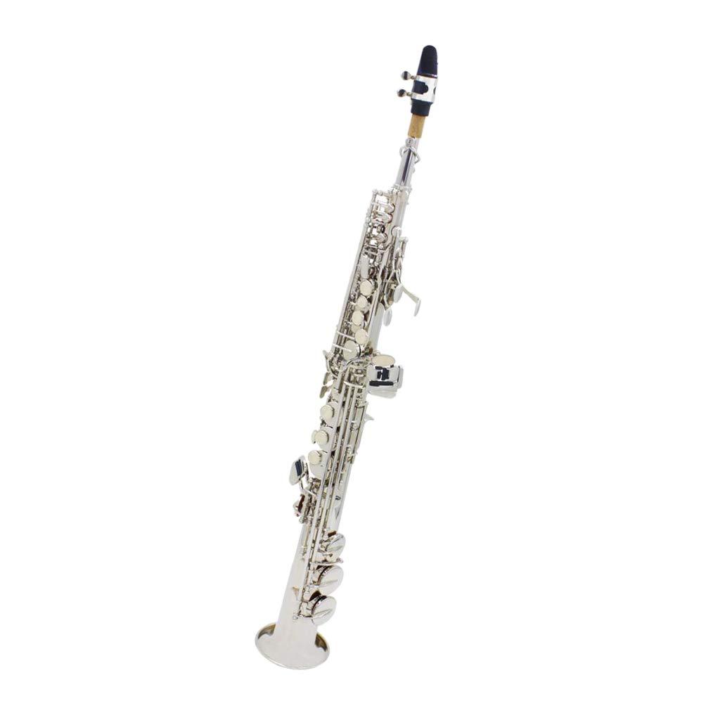 sharprepublic Bb ソプラノサックス サックス ケース付き 真鍮製 高音質 11点セット 吹奏楽 プロ用 B07QPP5KPX