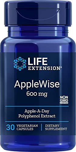AppleWise Polyphenol Extract 600mg 30 Count Pack of 2