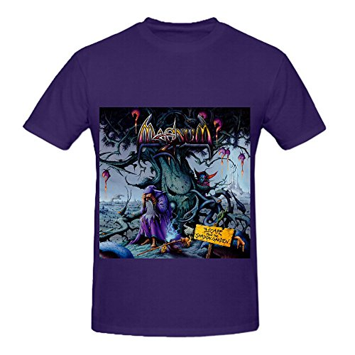 Magnum Escape From The Shadow Garden Funk Album Cover Mens Crew Neck Art Shirt Purple