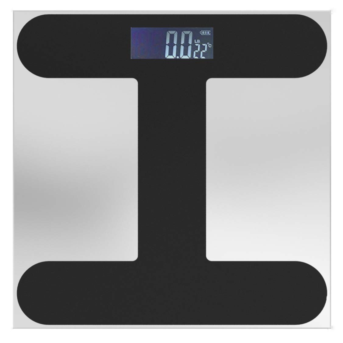 Digital Body Weight Scale with Step-on Technology, Large Glass Top, Wide Range of 400 lb, Precision Accuracy at 0.2 lb