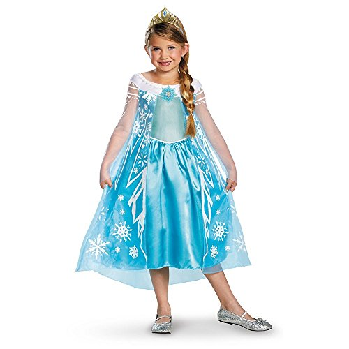Disney Pixar Frozen Queen Elsa Dress Deluxe Costume (Child (Disney Frozen Deluxe Elsa Costume)